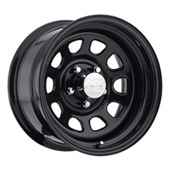 15x8.0 6 HOLES 139.7PCD (-25)  BLACK PAINTED