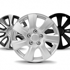 "ABS Wheel Cover (Taiwan) - 80-1293 - Silver with Chrome Ring (13"")"