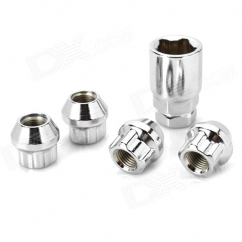 Bulged Type Lug Nut,Chromed Plated